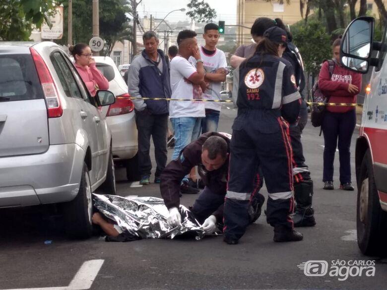 Motociclista morre após grave acidente em São Carlos - Crédito: Luciano Lopes