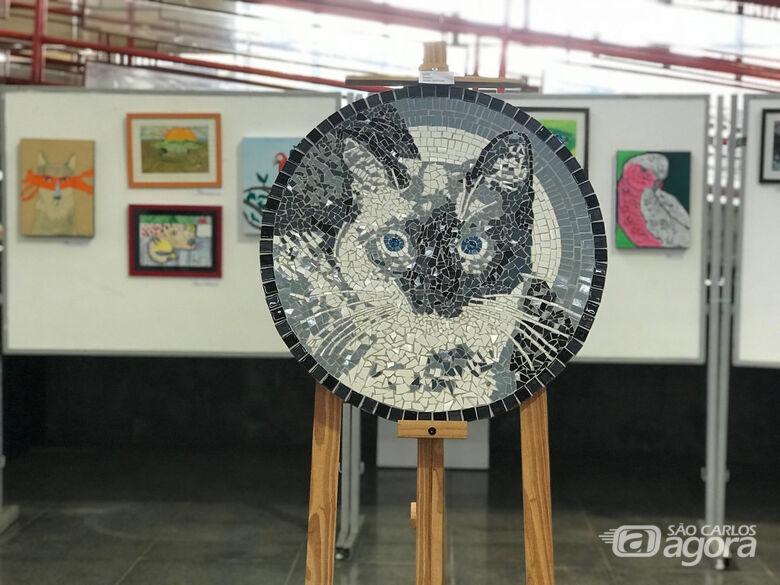 Biblioteca Comunitária da UFSCar apresenta exposições de pinturas, mosaicos e retratos - Crédito: Adriana Arruda - CCS/UFSCar