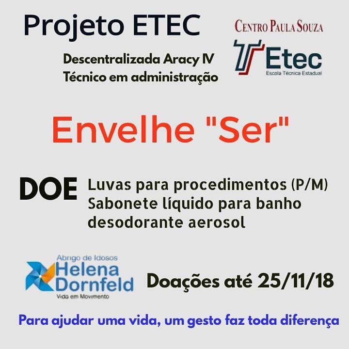 Ação social de alunos da Etec Centro Paula Souza irá ajudar abrigo Helena Dornfeld -
