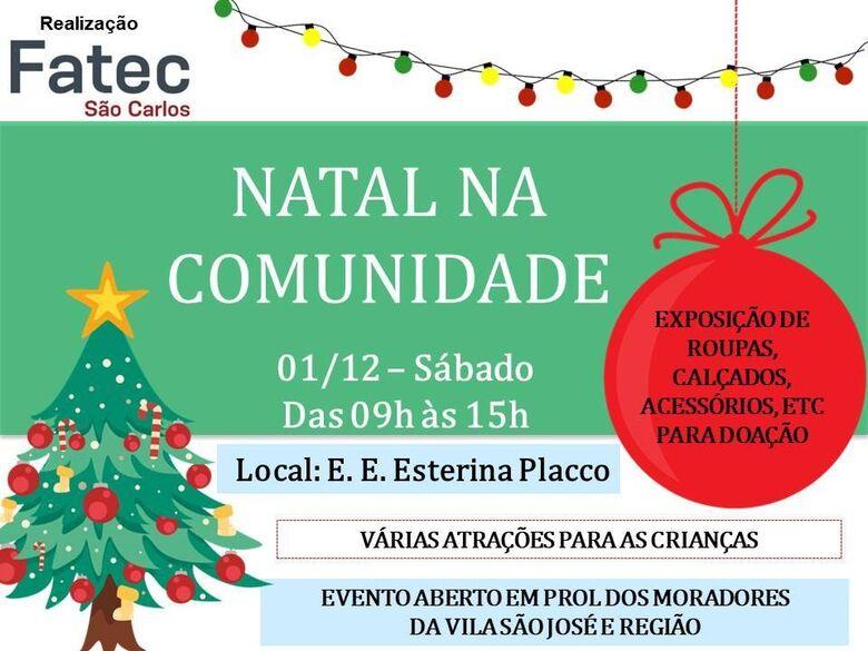 Fatec São Carlos realiza Natal na Comunidade -