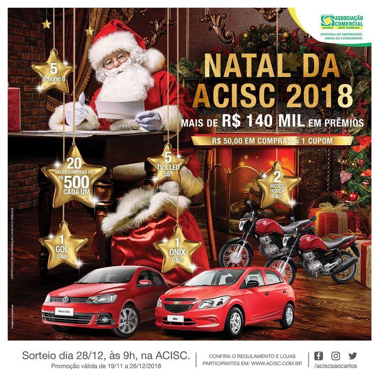 Acisc divulga lojas participantes da sua campanha de Natal 2018 - Crédito: Divulgação
