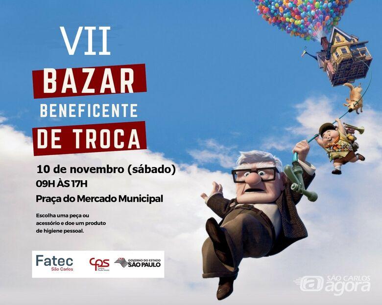 Fatec São Carlos realiza Bazar Beneficente de Troca na praça do Mercado Municipal -