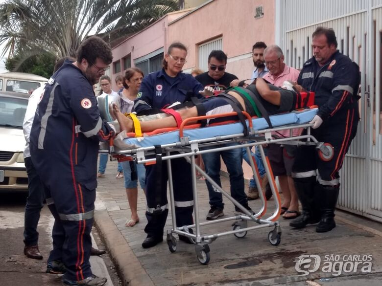 Idoso sofre fratura ao tentar segurar carro sem freios - Crédito: Luciano Lopes