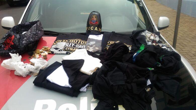 Após furtar loja, ladrão é detido dentro da sua casa - Crédito: Maycon Maximino