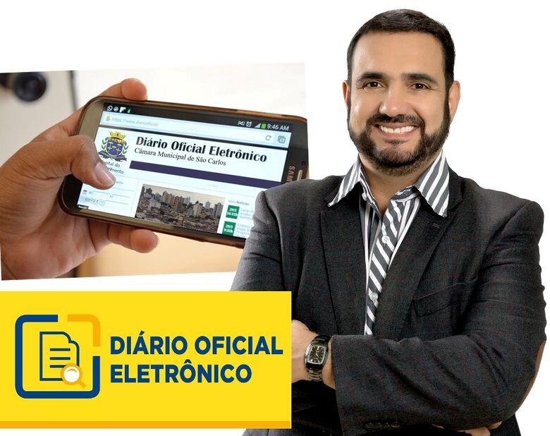 Gestão de Júlio Cesar implanta Diário Oficial Eletrônico - Crédito: Divulgação