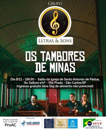 """""""Os tambores de Minas"""" integra comemoração dos 125 anos da Vila Prado -"""