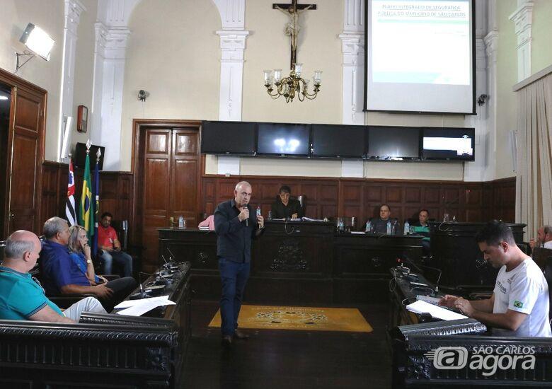Samir Gardini apresenta Plano Municipal de Segurança Pública - Crédito: Divulgação