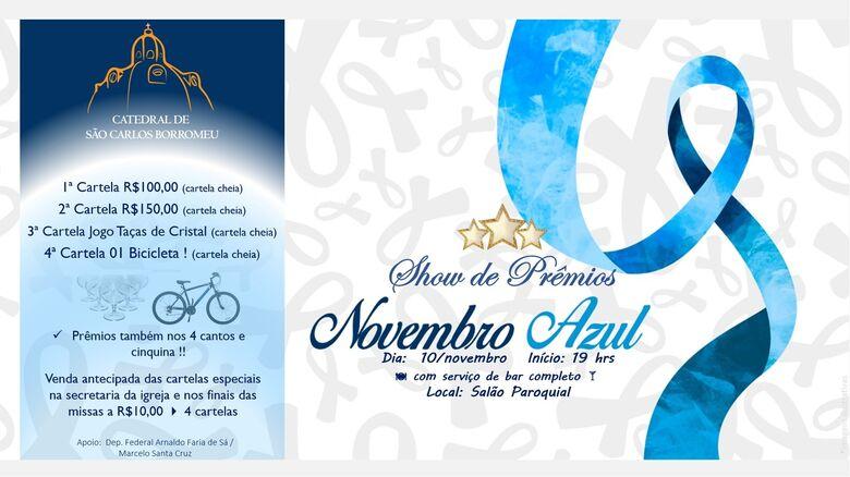 Catedral realiza o show de prêmios Novembro Azul -