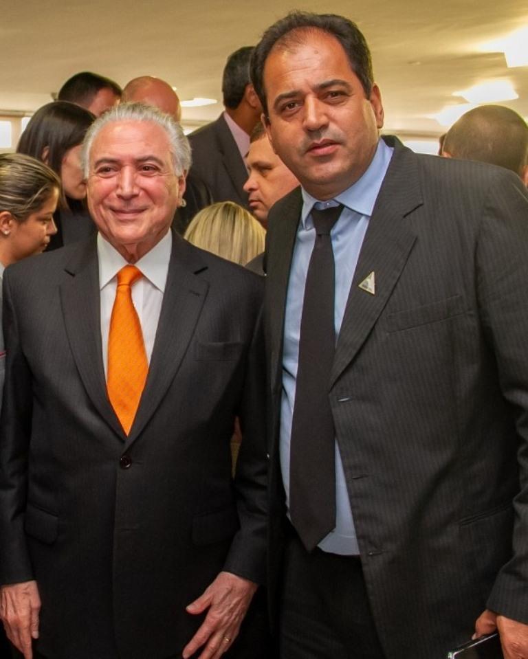 Sérgio Rocha esteve no Palácio do Planalto - Crédito: Divulgação