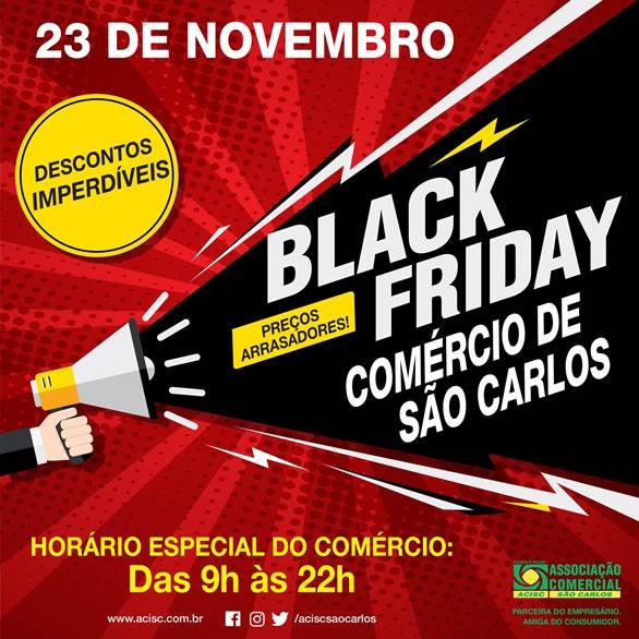 Black Friday em São Carlos terá horário especial no comércio -