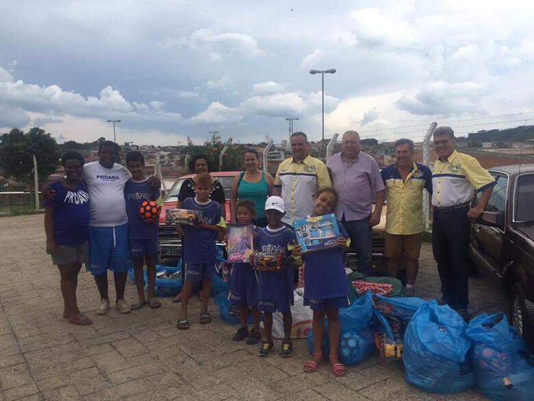 Crianças do Proara e da Pastoral de Rua vivem momento mágico - Crédito: Divulgação