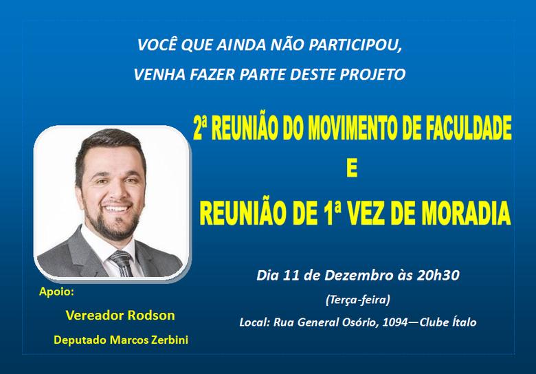 Rodson convida para a 2ª reunião do Movimento de Faculdade - Crédito: Divulgação