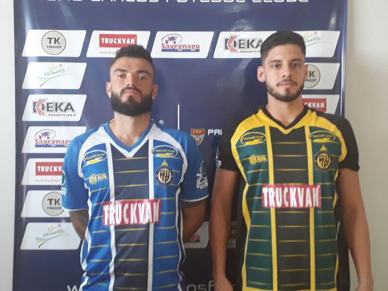São Carlos apresenta o meia Gabriel Cajano e o goleiro Otávio - Crédito: Divulgação