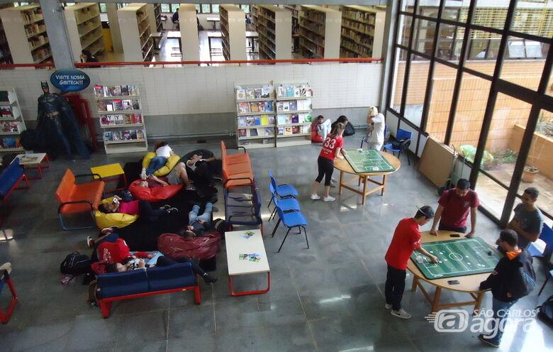 Biblioteca Comunitária da UFSCar promove práticas de futebol de botão - Crédito: Marcelo Araújo/Bco/UFSCar