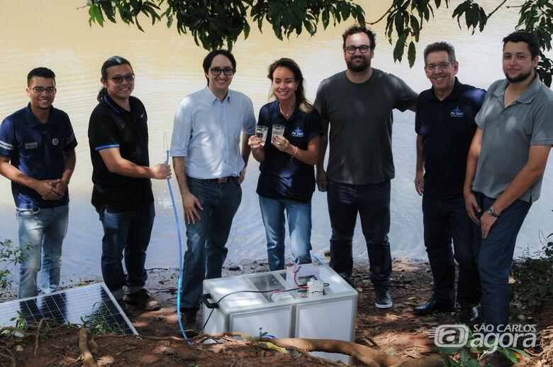 UFSCar cria purificador para acesso a água potável em locais remotos - Crédito: Luiz Gambardella/CCS