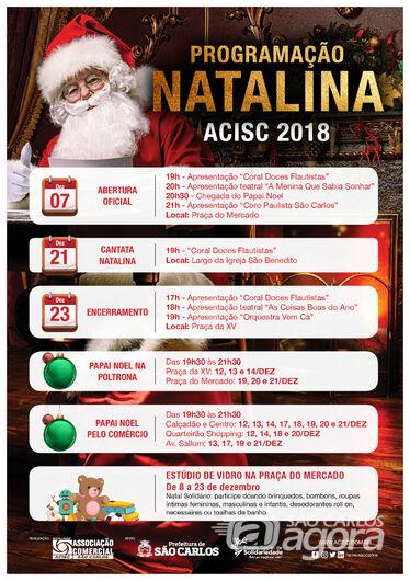 Abertura da Programação Natalina da Acisc será nesta sexta-feira (7) -