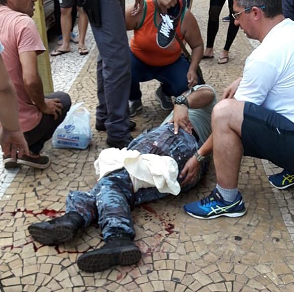 Policial civil tentou intervir e acabou baleado - Crédito: Redes Sociais