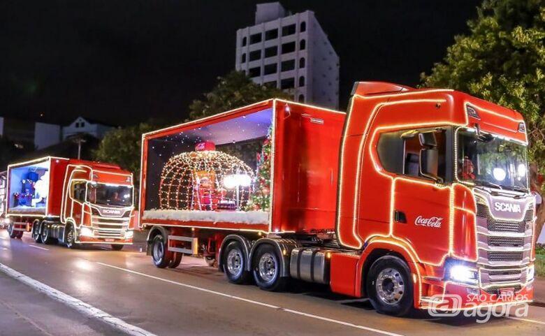 Caravana de Natal da Coca-Cola passa por São Carlos na terça-feira (11) - Crédito: Divulgação