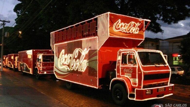 Veja o trajeto da Caravana de Natal Coca-Cola em São Carlos -