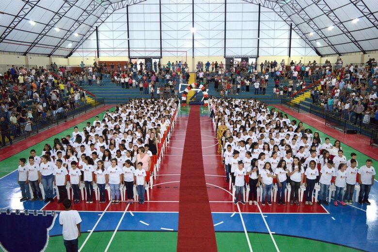 De volta a Ibaté, Proerd da PM forma aproximadamente 500 alunos - Crédito: Divulgação