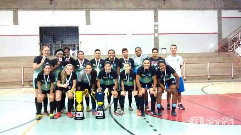 Futsal Feminino de Ibaté é vice-campeão adulto e 3º no Sub-21 da Liga Santa-ritense - Crédito: Divulgação