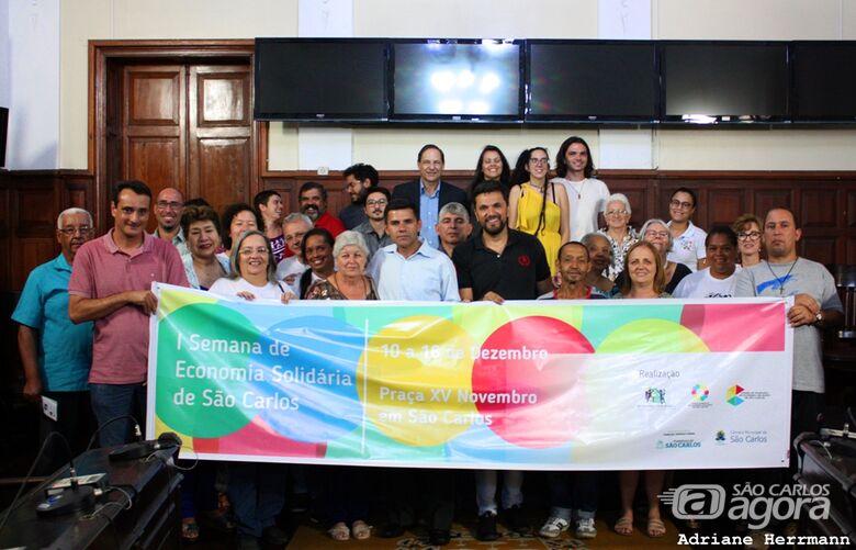 Rodson participa da abertura da I Semana de Economia Solidária - Crédito: Divulgação