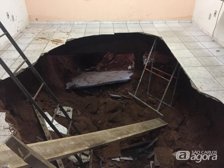 Prefeitura de Ibaté esclarece sobre desmoronamento em piso de escola municipal - Crédito: Divulgação