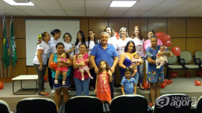 Mamães doadoras de leite são homenageadas pela Santa Casa - Crédito: Divulgação