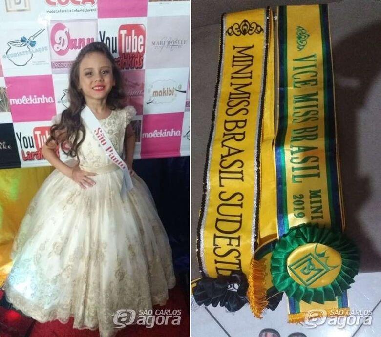 São-carlense conquista o Miss Sudeste para crianças e adolescentes - Crédito: Divulgação