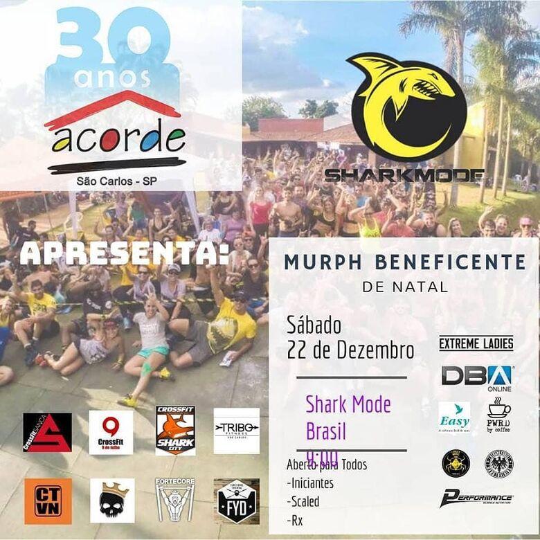 Shark Mode Brasil realiza 'Murph Beneficente' em prol da ACORDE -