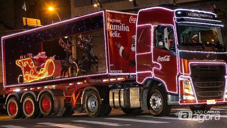 A magia e o brilho do Natal! Caravana iluminada da Coca-Cola chega a São Carlos - Crédito: Imagem Ilustrativa