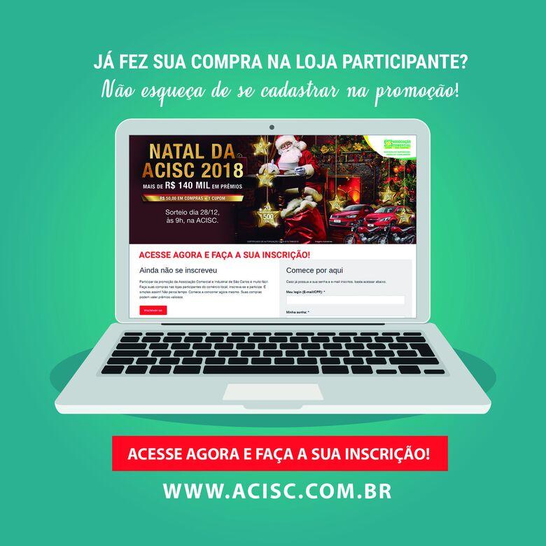 Acisc orienta consumidores para se inscrever na promoção de Natal - Crédito: Divulgação