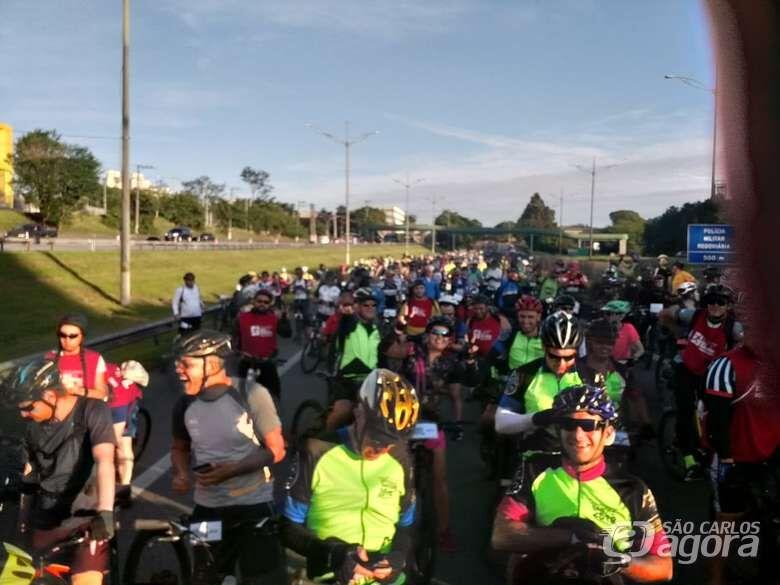 Duzentos ciclistas de São Carlos participam do Pedal Anchieta - Crédito: Divulgação