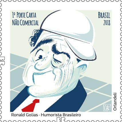 Golias é homenageado com selo e carimbo - Crédito: Divulgação