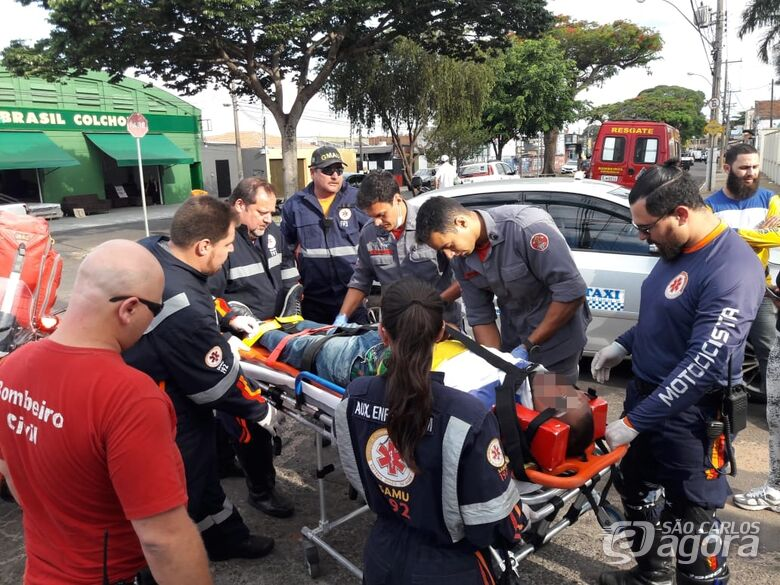 Carro avança pare e causa acidente na Rua Larga - Crédito: Maycon Maximino