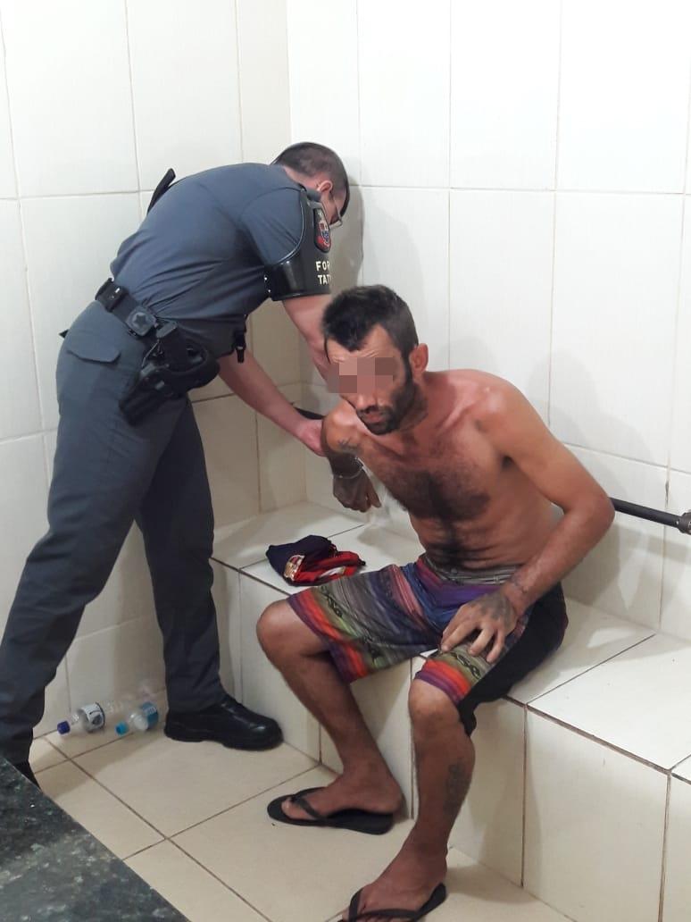 Acusado de assaltar motorista de Uber é detido pela Força Tática - Crédito: Maycon Maximino