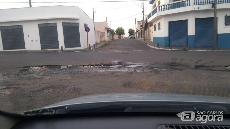 Buracos em cruzamento irritam moradores no Parque Primavera - Crédito: Divulgação