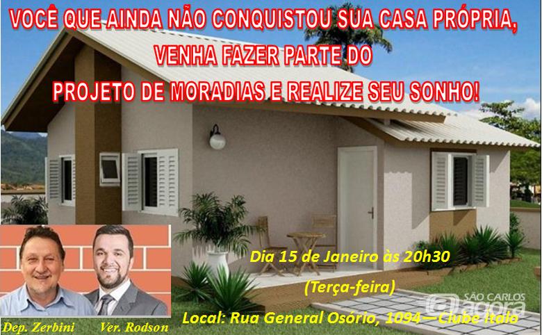 Rodson convida para reunião do Projeto Habitacional de Interesse Social no Ítalo - Crédito: Divulgação