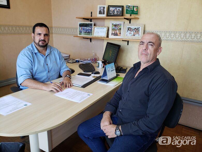 Julio Cesar se reúne com secretário em busca de melhorias na área - Crédito: Divulgação