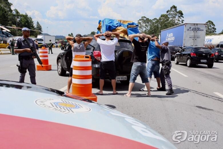 PM realiza megaoperação em estradas de SP neste sábado (12) - Crédito: Governo Estado de São Paulo