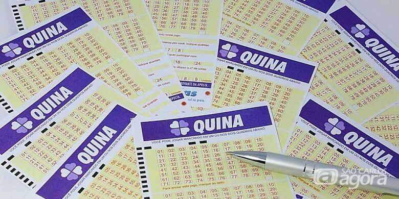 Aposta da região ganha R$ 11 milhões na Quina - Crédito: Divulgação