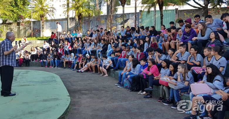 Na segunda fase do projeto, alunos do Sebastião de Oliveira Rocha participaram das ações - Crédito: Divulgação
