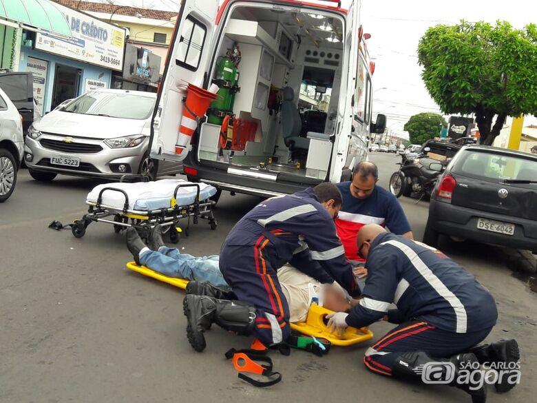 Pedestre é atropelado na avenida Sallum - Crédito: Maycon Maximino