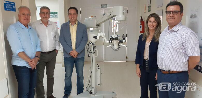 Santa Casa recebe a visita da diretora da Opto Eletrônica - Crédito: Divulgação