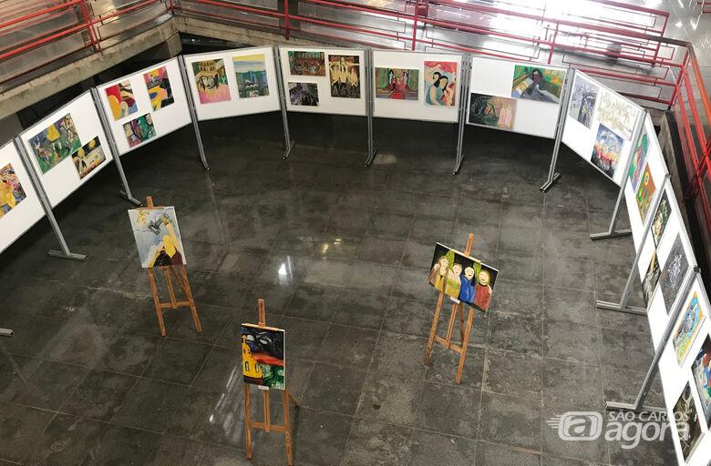 Biblioteca Comunitária da UFSCar apresenta exposições de pinturas e desenhos - Crédito: Adriana Arruda/CCS-UFSCar