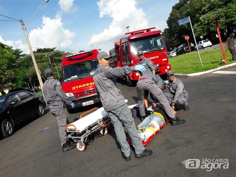Pedestre é atropelado na região da rodoviária - Crédito: Maycon Maximino