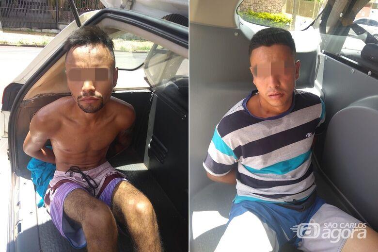 Dupla acusada de assaltar posto de combustíveis é presa pela ROCAM - Crédito: Divulgação/Polícia Militar