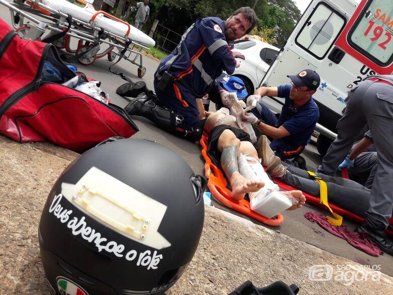 Casal sofre graves ferimentos após colisão em estrada municipal - Crédito: Maycon Maximino