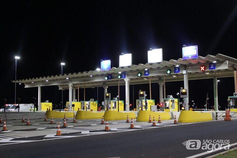 Motoristas acima de 40 km/h em praça de pedágio serão multados - Crédito: Divulgação