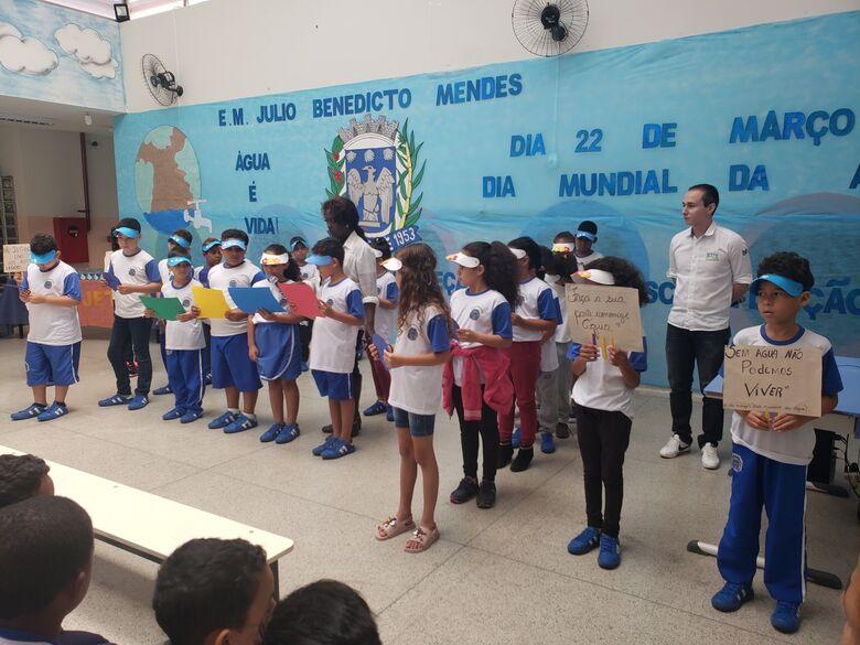 Dia Mundial da Água é tema de projeto em Escola Municipal de Ibaté - Crédito: Divulgação